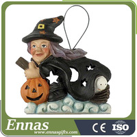 Resin 2016 Unique Gifts Witch ornament Halloween Crafts For Kids