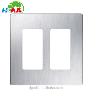 Customized 2-Gang Stainless Steel Double Decorator Wall Plate
