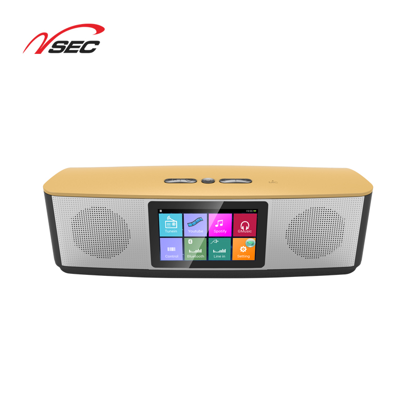 New best Android 4.4 touch screen speaker 4.0 inch smart WiFi speaker speech home theatre touch screen speaker A-6