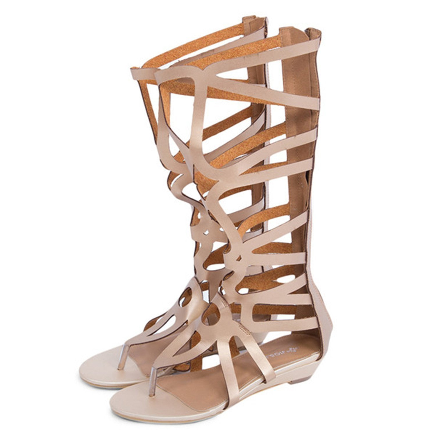 0b3c54bbe52 Get Quotations · Feilongzaitianba Flat Sandals For Women On Sale Under  161Women Sandals Sexy Knee High Summer Shoes Gladiator