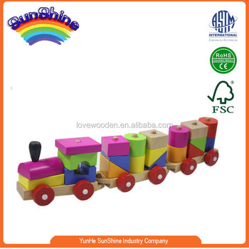 2015 New Hot Sell Wooden Train En71 Blocks Train Three Carriage Colorful Train View Thomas Toy Train Sunshine Product Details From Yunhe Sunshine