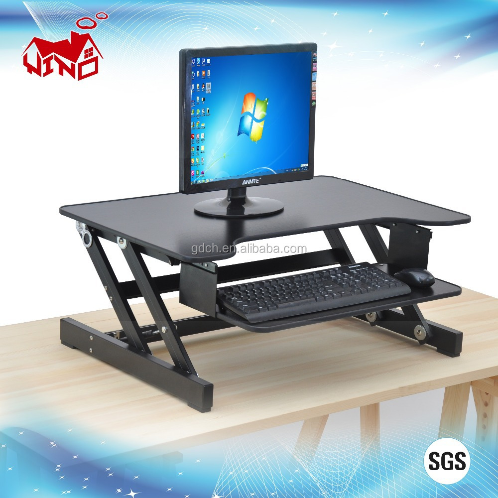 stand portable desk standing conversion converter adjustable small changedesk up manual