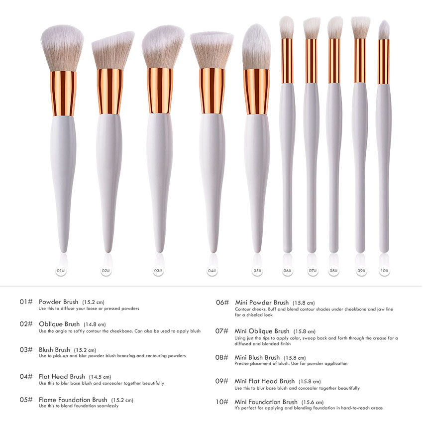 Makeup Suppliers China New Products 2018 Wooden Brush Cosmetic Custom Logo,8pcs