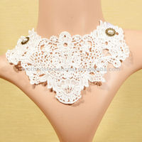 manufacture high quality european vintage palace gothic style lace necklace for wedding