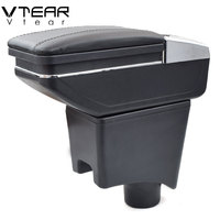 Vtear For Dacia sandero armrest central Store content storage box ashtray interior arm rest car-styling decoration Accessories