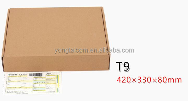 brown Corrugated packaging delivery Airplane folding Box for clothing