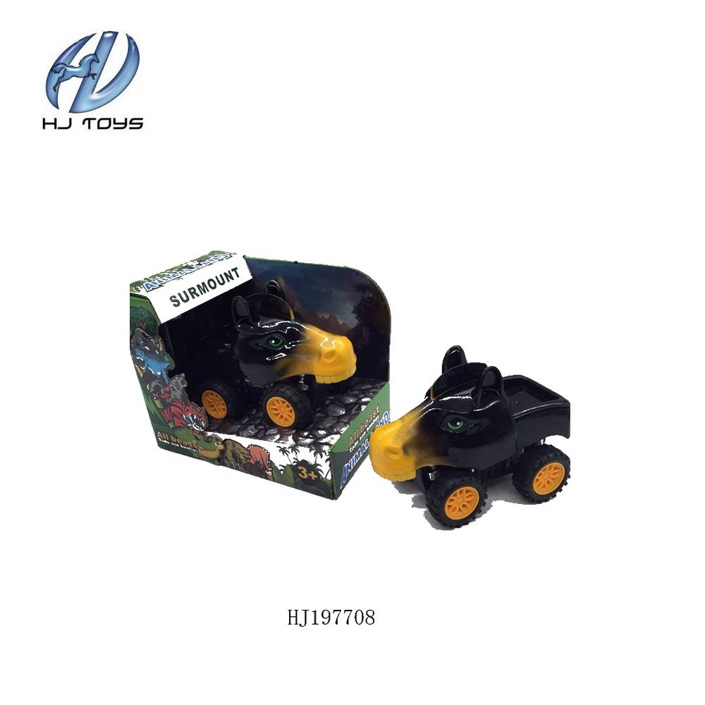 Çocuklar için sıcak satış plastik sürtünme hayvan oyuncaklar araba