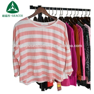 high-quality import second hand clothing japan used long T-shirt in bales