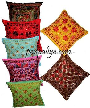 Decorative India Tribal Embroidered Pillow Covers Wholesale Lot Hot