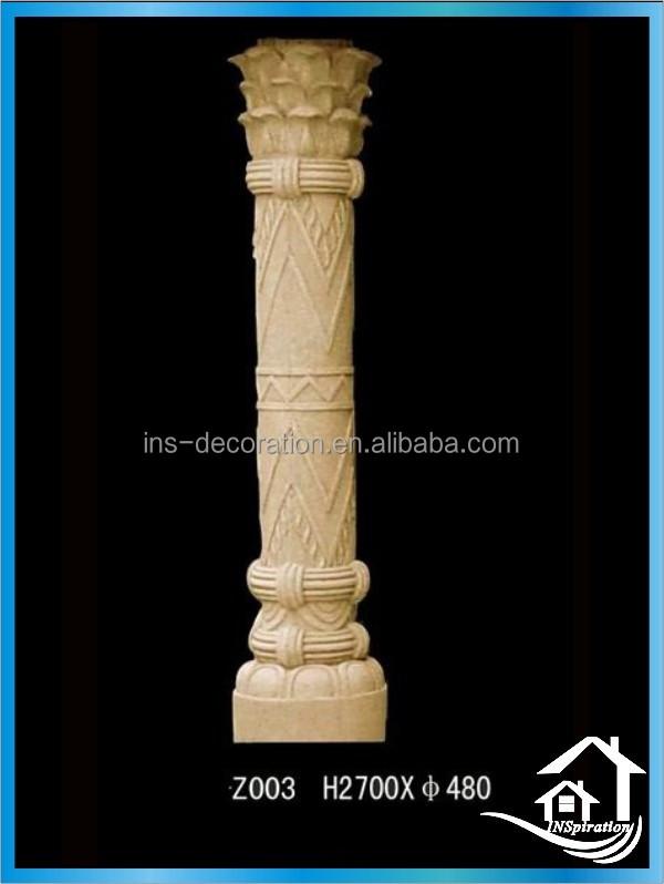 Cast Stone Round Marble Pillar