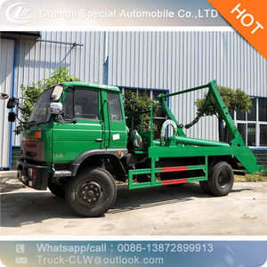 Swept-body refuse collector swing arm garbage truck skip loader garbage truck for sale