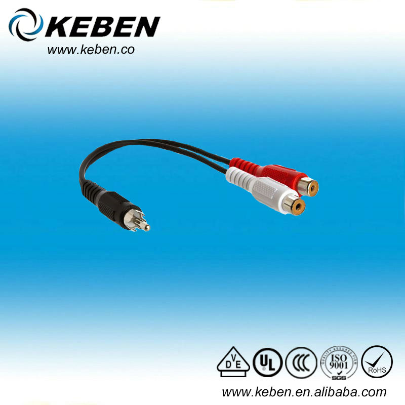 Best price high quality stereo to rca cable 3.5mm male to female rca cable