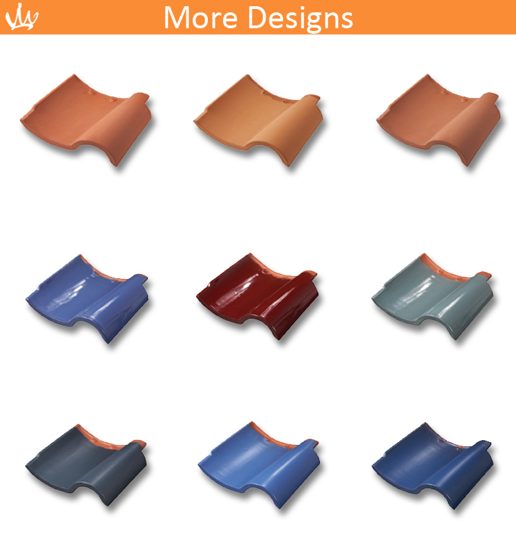 Red Color Rustic Roof Tile Ceramic Roof Tile Terracotta Red Roof Tile