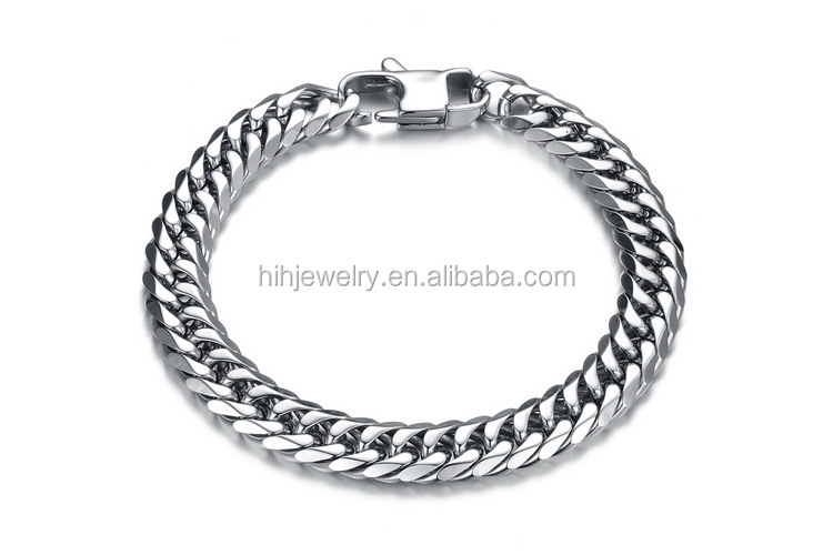 Bracelet Hand Chain For Men Stainless Steel Curb