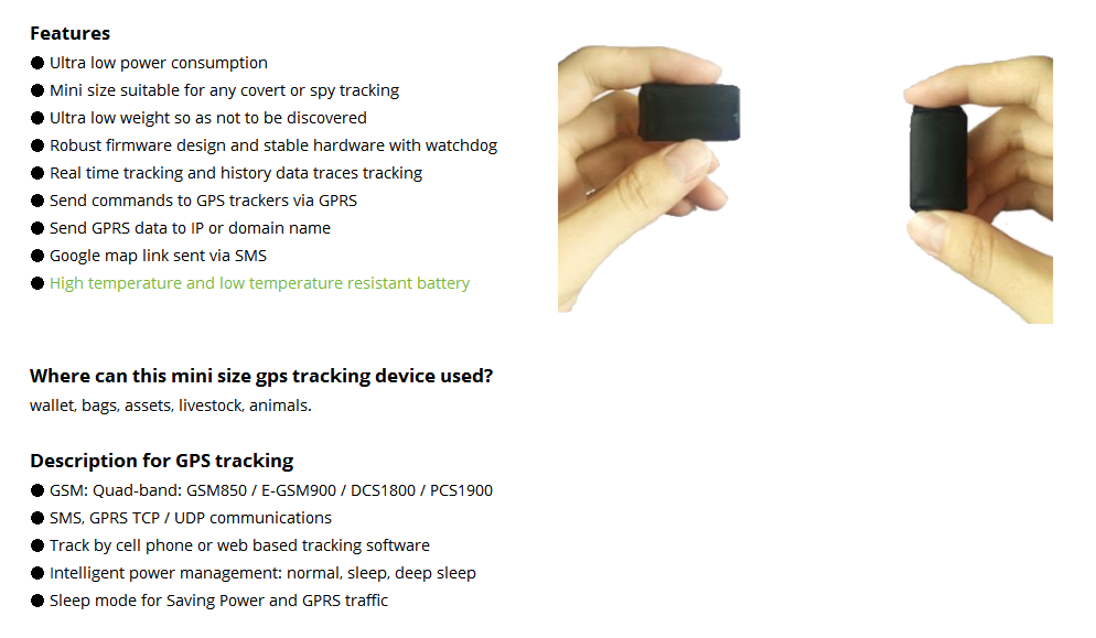 2019 New Design Mini Gps Tracking Device Tracking Covertly Used For  Wallet,Bags,Assets,Livestock,Animals - Buy Mini Gps Tracking Device  Tracking