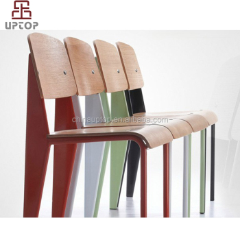 Modern Wood Stackable Dining Chairs Bentwood Chair For Cafe