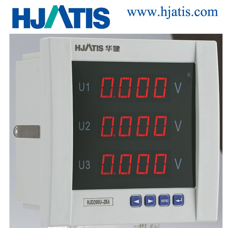 Thhree Phase Digital Display Only LCD Voltmeter