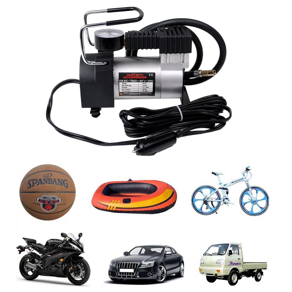 Portable Multi Use Car Air Compressor Inflatable Pump Auto