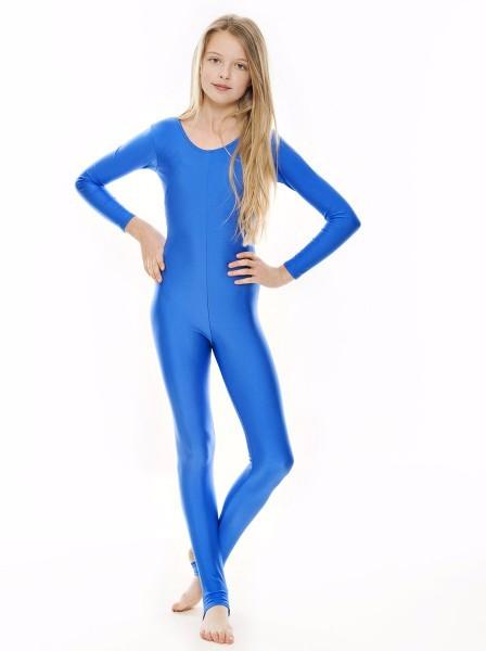 2019 Girls Lycra Long Sleeve Dance Unitard Kids Stirrups