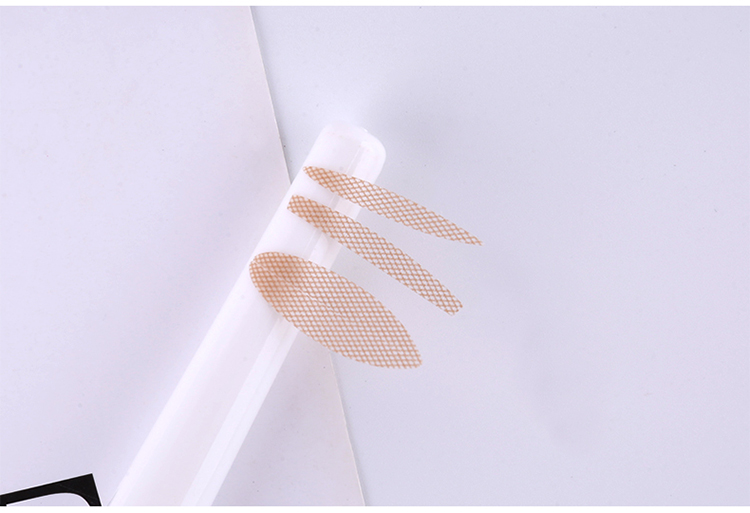 Wholesale lace mesh double side double eyelid sticker tape with fork 48 pairs in pack