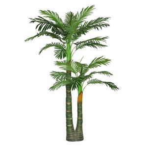 Customized large size decoration artificial green plastic palm tree