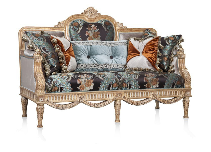 Retro British Style Palace Furniture,Noble Hand Carved Wooden Sofa  Set,Replicated Living Room Sofa Couch   Buy Solid Wood Classic Palace  Fabric Couch Sofa ...