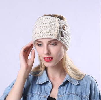 Ladies Custom Knitted Winter Headband New Woman Winter Crochet