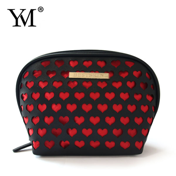 promotion price PVC Satin woman beauty makeup cosmetic bags set