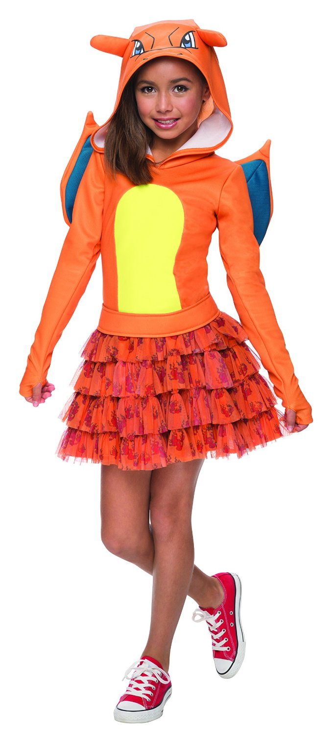 Rubie's Costume Pokemon Charizard Child Hooded Costume Dress Costume, Large
