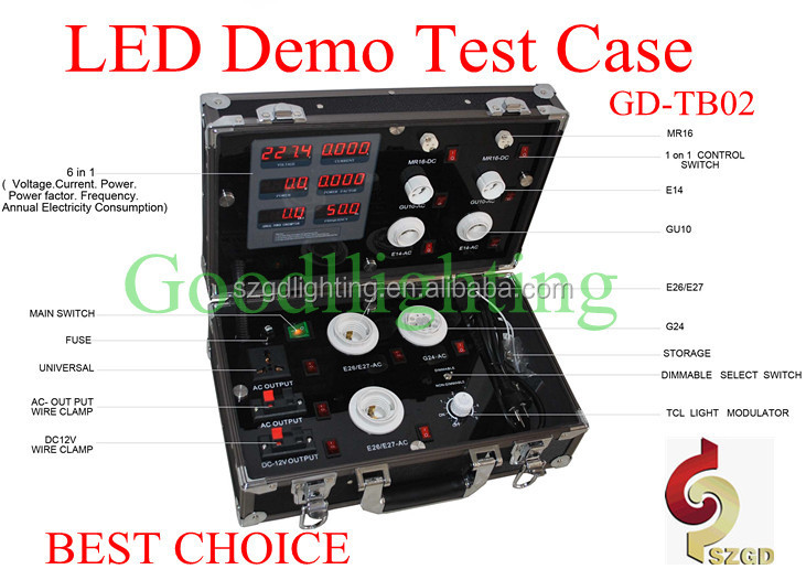 Goodlighting Kit for Tube demo case electrical test equipment with lamp holders