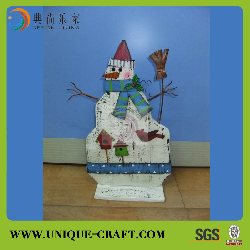 2015 high quality christmas decoration wooden snowman crafts