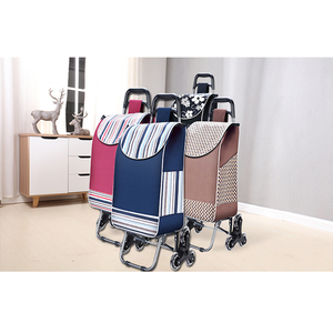Six Wheel Climbing Stair Folding Shopping Cart With Bag
