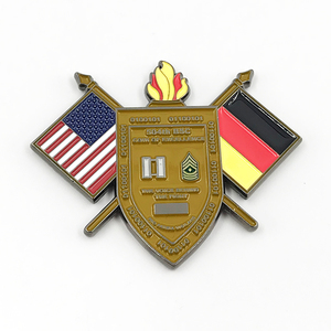 high quality metal American and Germany flag souvenir coins with customized design