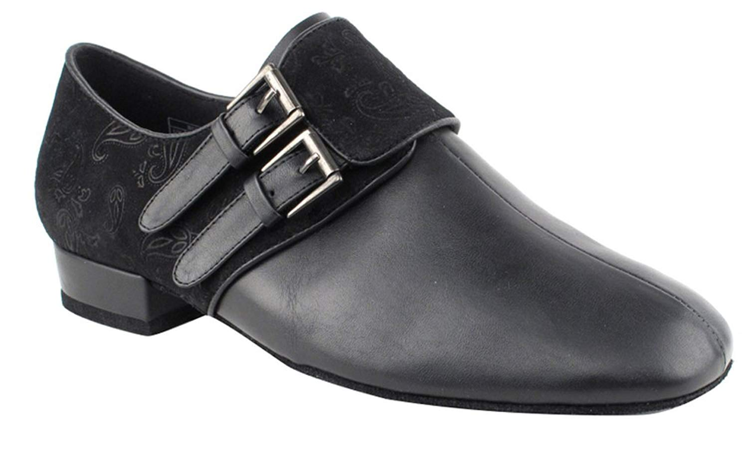 Very Fine Shoes Men's Standard & Smooth Competitive Dancer Series CD9006A Black Leather & Nubuck Shoes