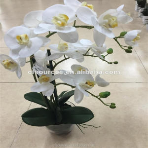 Decorative Flowers & Wreaths Type Wedding Decorative PU Artificial Flower Fake Orchid For Sale