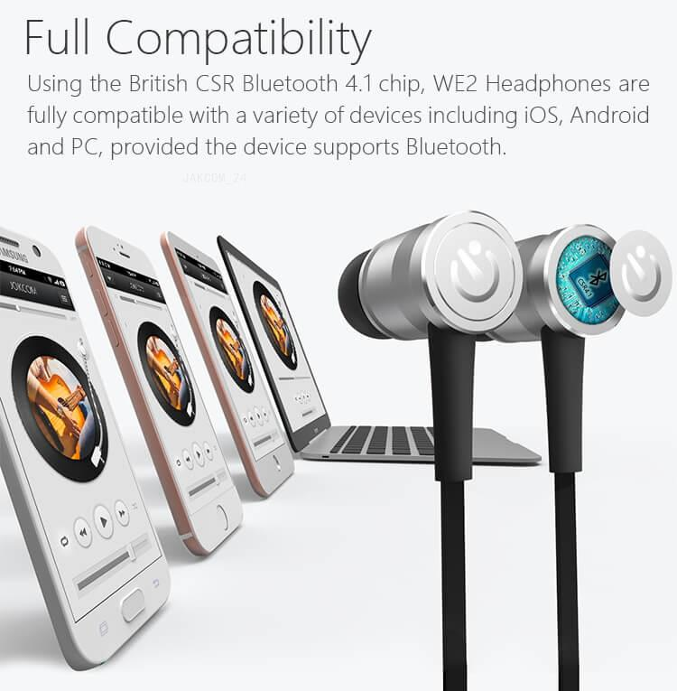 JAKCOM WE2 Smart Wearable Earphone 2018 New Product of Other Consumer Electronics like mobile phone cover para mobil