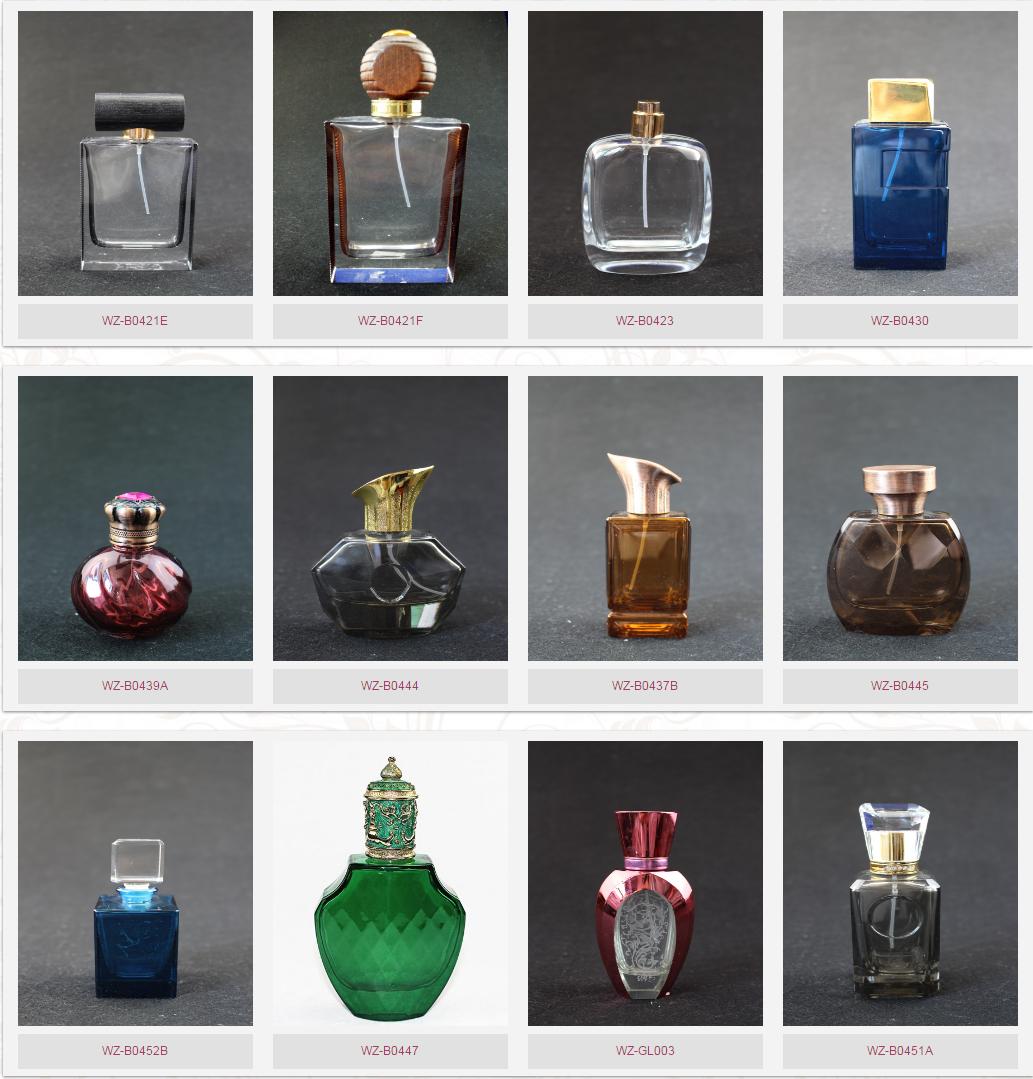 Garrafa de perfume quadrada preta de vidro de cristal de qualidade luxuosa