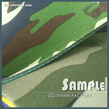 Smart camouflage neoprene material with fabric