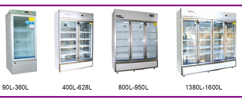 Glass Door Medical Fridge Lab Refrigerator Drug Storage