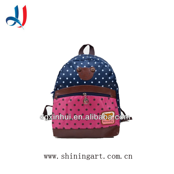 2017 Alibaba China New Design Student Hot Wind Style Manufacturers Backpack Child School Bag