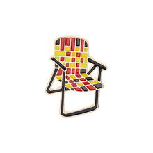 Modern design leisure arm-stoelen badge tartan ontwerp zacht email revers pin
