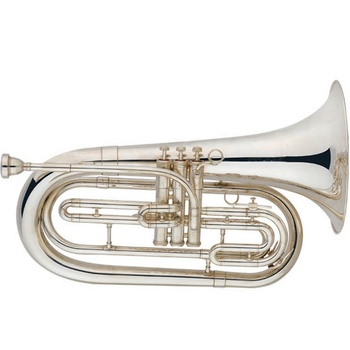 Nickel plated Tone Bb Marching Baritone Horn