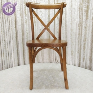 ZY00430 Wholesale restaurant wooden dining wood X back chairs