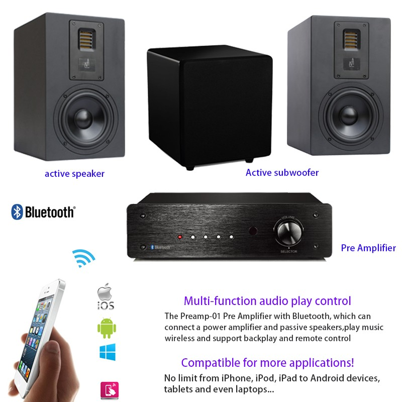 New Style Wireless Bluetooth Sound System Audio Control HiFi Microphone Preamp
