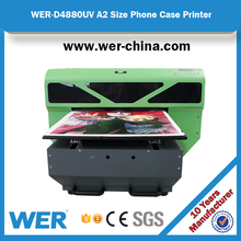 Small Mini A2 high resolutions UV flatbed printer for iron sheet
