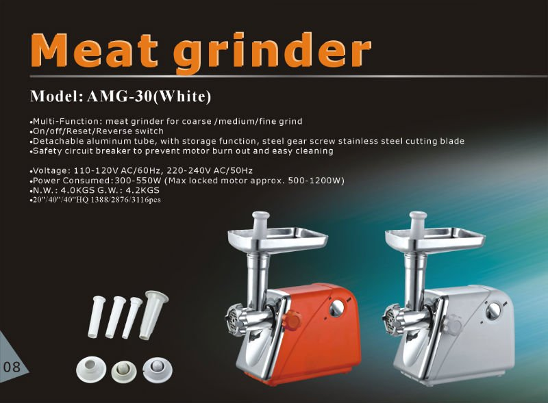 1800W New Stainless Steel Meat Mincer