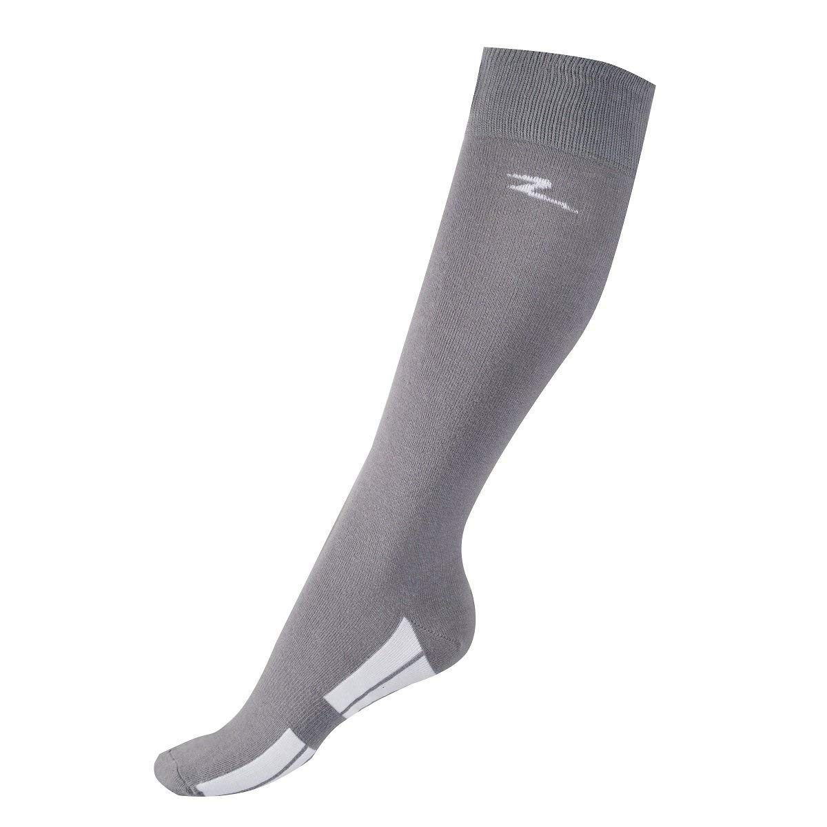 8bc53de9e Get Quotations · Horze STEEL GREY Adult Coolmax Tall Knee Stretchable  Breathable Tread Socks (US 6-7.5