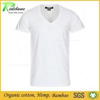 Wholesale short sleeve T shirt 55% hemp 45% organic cotton fabric