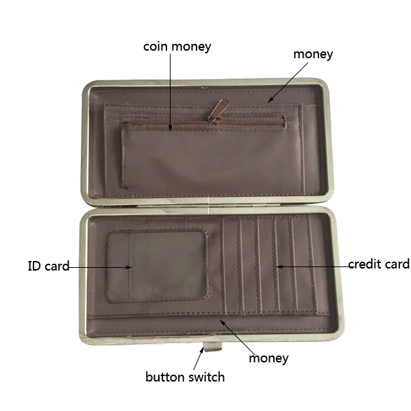 Fashion promotion Safe Lock Lady Wallet & Credit Card Holder with Costom Printing