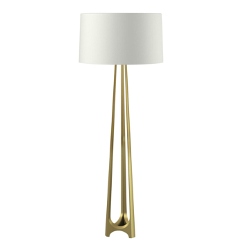 American Ul Cul Modern Bedroom Elegant Brass Base Solid Metal Tripod Floor Lamp For Marriott Hotel Lighting Decorative